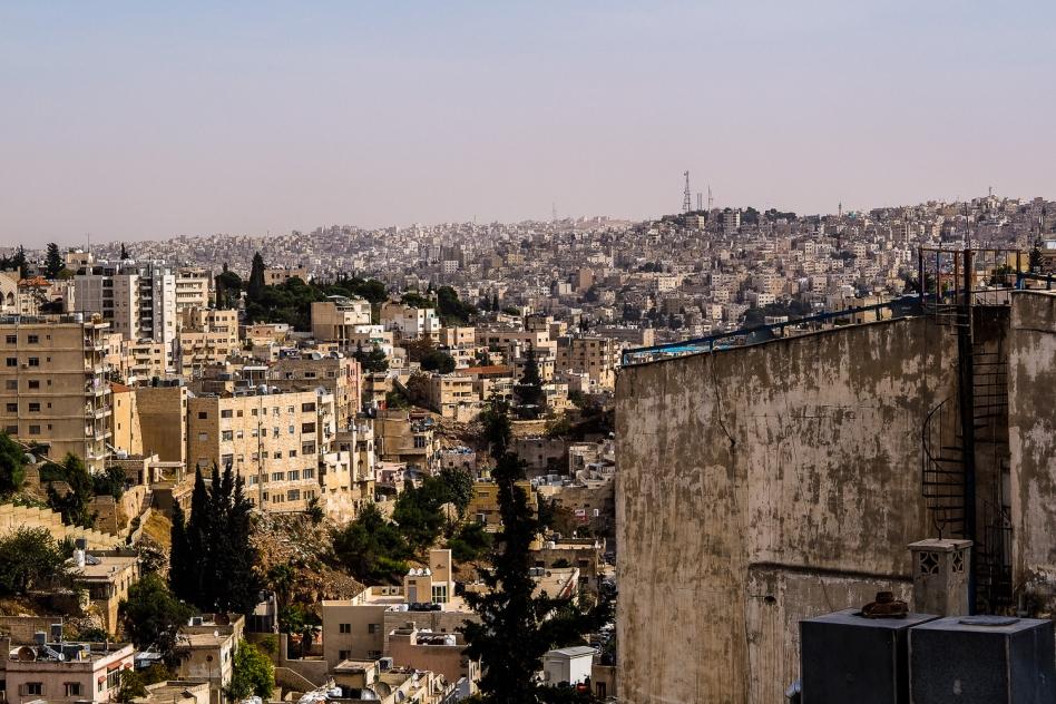 Amman Ausblick aus dem Hauptquartier von ICMC Jordan